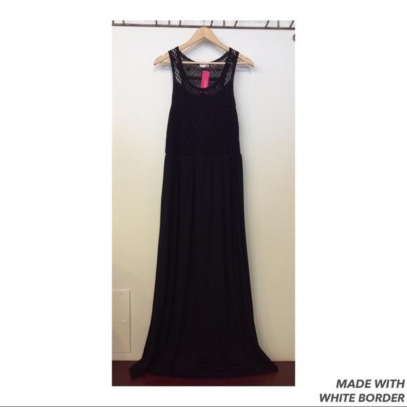 Xhilaration Dresses & Skirts - Xhileration Black Maxi Dress Size XL